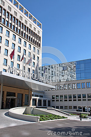 Free Modern And Attractive Building Of Hotel Metropol Palace In Belgrade Royalty Free Stock Image - 62653496
