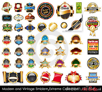 Free Modern And Vintage Emblems Extreme Collection. Stock Photos - 21698333