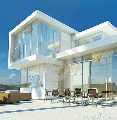 Free Modern Angular Luxury Tropical Villa Royalty Free Stock Photo - 41216065