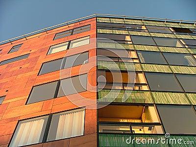Modern apartment house
