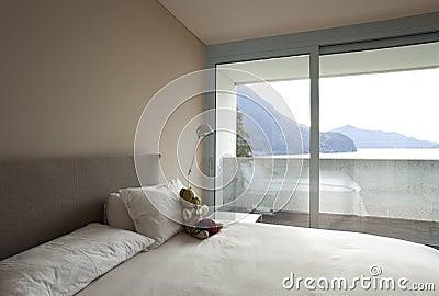 Modern apartment interior view