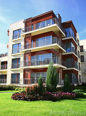 Free Modern Apartments Royalty Free Stock Photos - 10326458