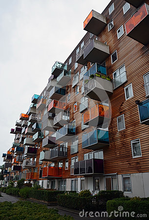 Free Modern Apartments Building In Amsterdam, Holland Stock Image - 27632921