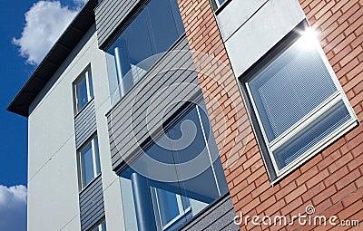 Modern apartments close up