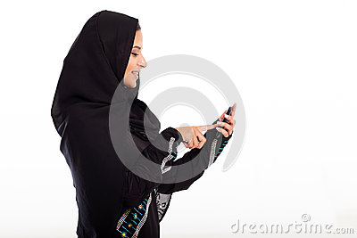 Arabian girl phone