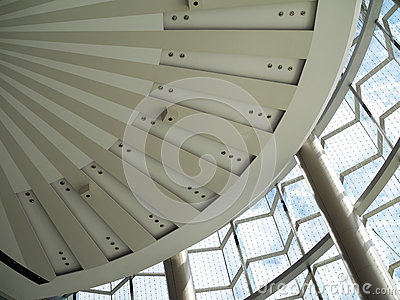 Modern Architectural Skylight Structure Stock Photo