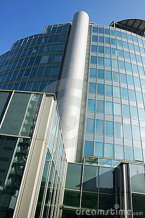 Modern Architecture 2 Building in Offices Quarter. Milan