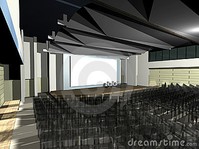 Modern architecture auditorium