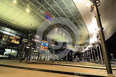 Modern architecture of bus station in Hamburg, Germany Editorial Photography