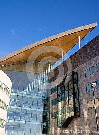 Modern Architecture in Cardiff Bay, Wales