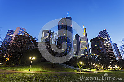 Modern Architecture Of Downtown Of Frankfurt Stock Photo