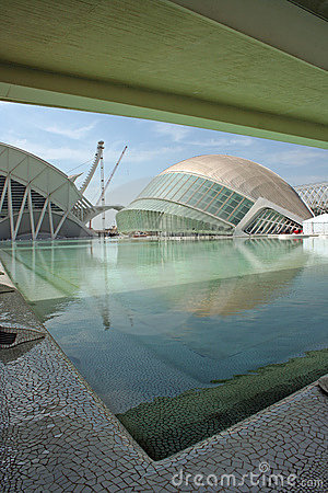 Modern architecture of expo valencia spain Editorial Photo