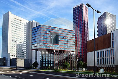 Modern architecture in the Rotterdam, Netherlands