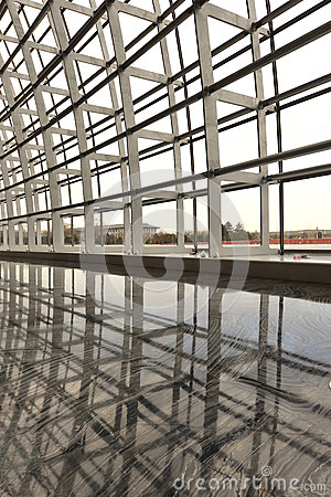 Modern architecture skylight framework