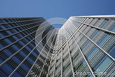 Modern architecture of skyscraper