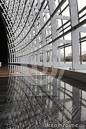 Modern architecture steel framework