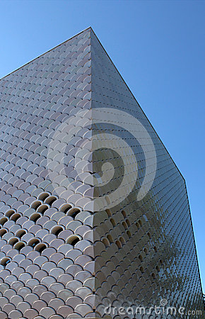 Modern architecture texture background perspective