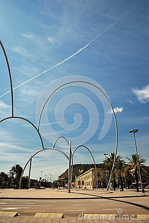 Modern Art in Barcelona Editorial Image