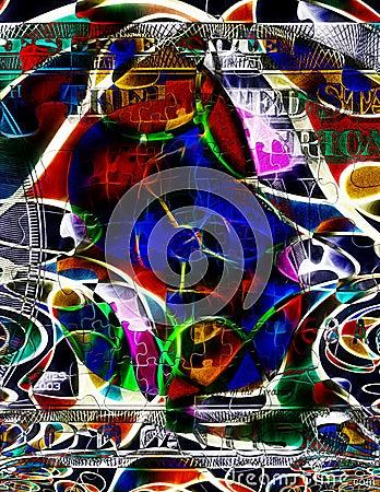Free Modern Art Money Abstract Stock Photography - 31804032