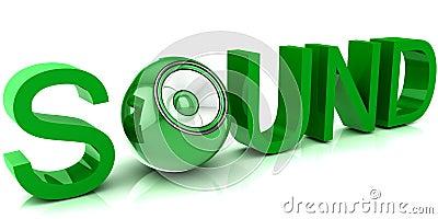 Modern audio speaker on white background. Stock Photo