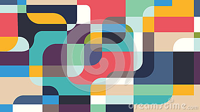 Modern background. Irregular geometric forms, multiple colour. Vector illustration for background, wallpaper, web. Vector Illustration