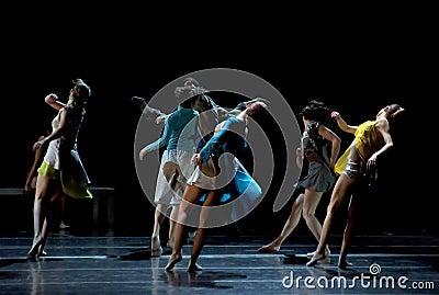 Modern  ballet dancers Editorial Image