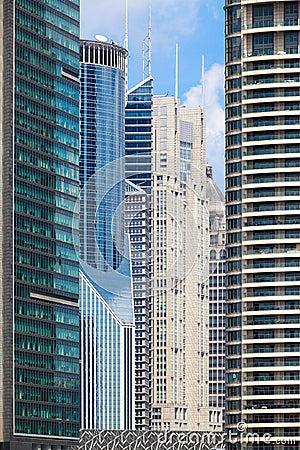 Modern banking buildings