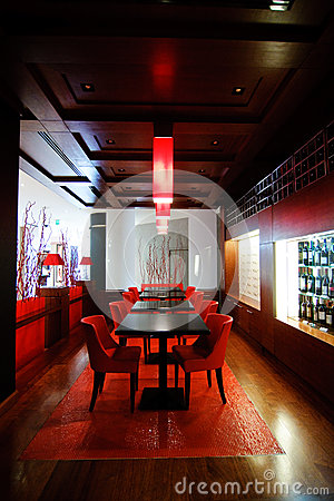 Modern bar in a hotel