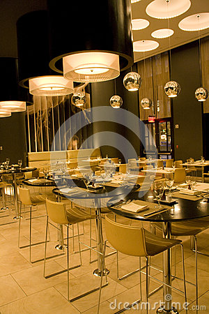 Modern bar restaurant interior