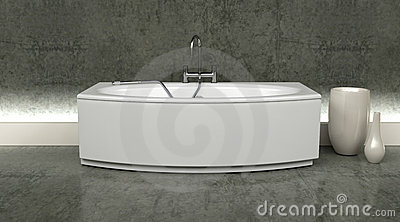 Modern bath and taps