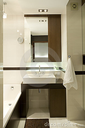Free Modern Bathroom Stock Photography - 12440892