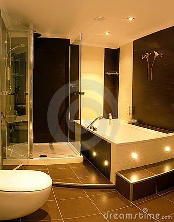 Free Modern Bathroom Royalty Free Stock Image - 3706086