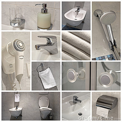 Free Modern Bathroom - Collage Royalty Free Stock Images - 22702839
