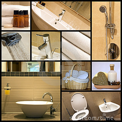Free Modern Bathroom - Collage Royalty Free Stock Images - 7768779