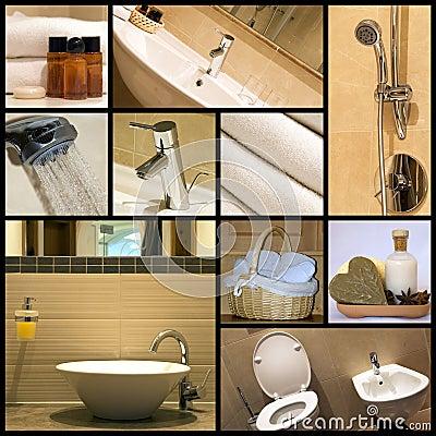 Modern bathroom - collage