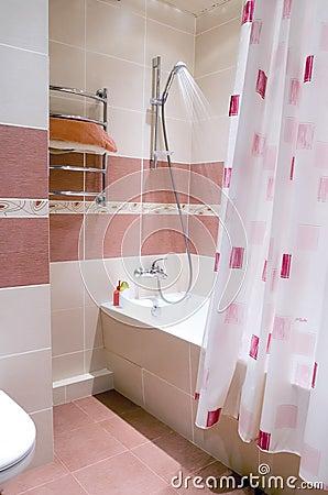 Free Modern Bathroom In Tile Royalty Free Stock Image - 2677216