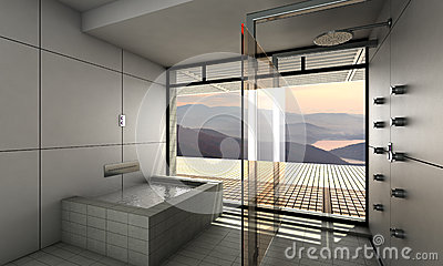 Modern bathroom royalty free stock image image 37392976 - Interior design bathroom colors ...