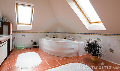 Modern bathroom panorama