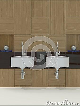 Modern bathroom, sink