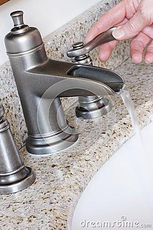 Modern Bathroom Taps in Brushed Nickel