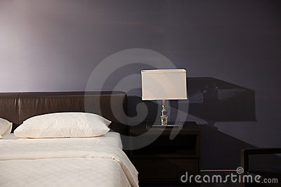 Modern bed room interior