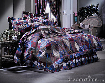 Modern Bed room set with bedding
