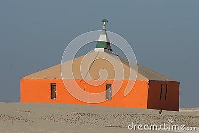 Modern bedouin tent in Nouakchott, Mauritania