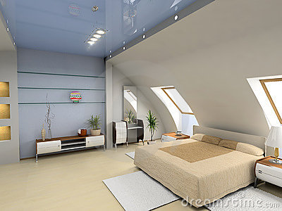 Minimalist Modern Bedroom Interior Arc Wall