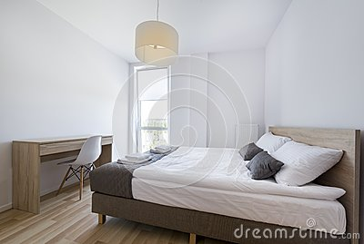 Modern Bedroom in white and beige color