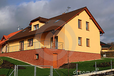 Modern and big family house