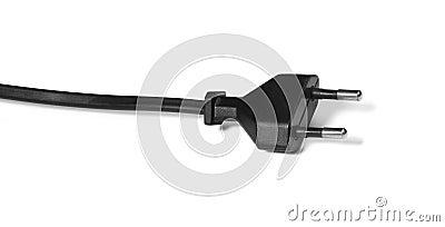 Modern black plug