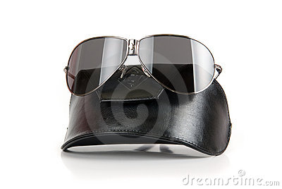 Modern black sunglasses