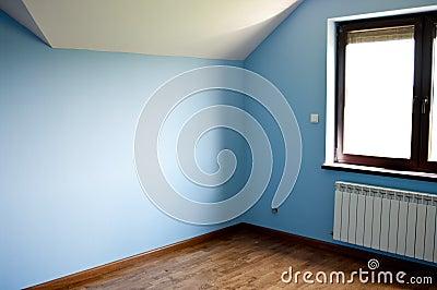 Modern blue room