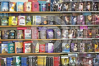 Modern Books Editorial Stock Photo